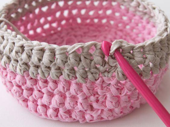 Вязание крючком интерьерной корзинки