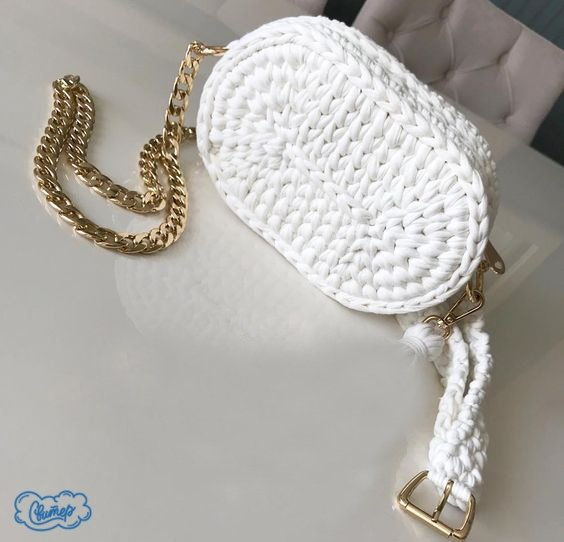 Вязание крючком поясной сумки
